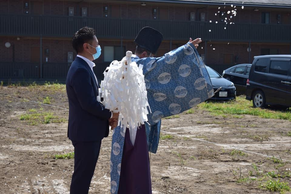新築分譲マンション「グランドガーデン燕三条駅」地鎮祭